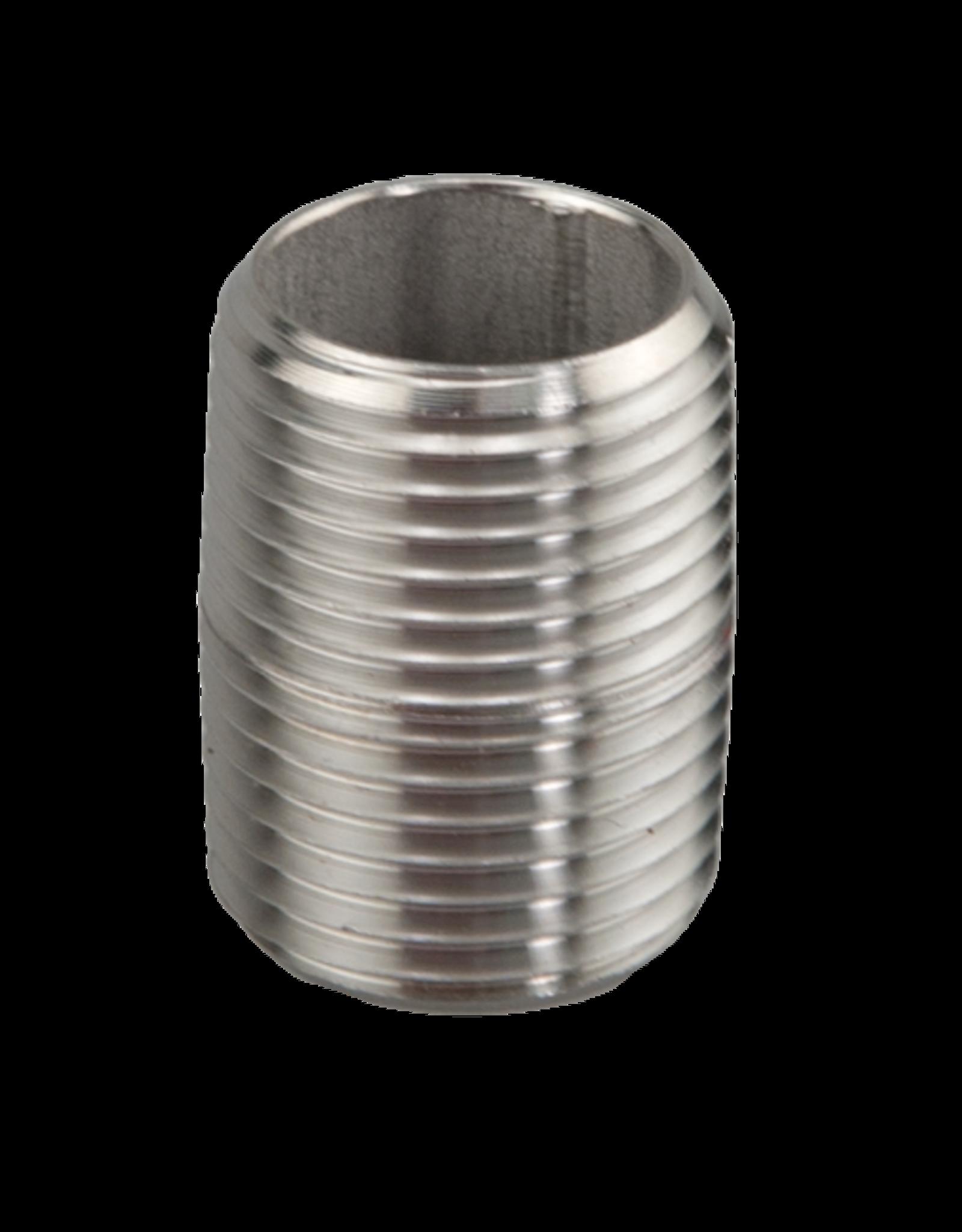 """Hex Nipple 1/2"""" NPT Stainless Steel"""