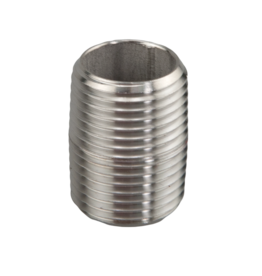 "Hex Nipple 1/2"" NPT Stainless Steel"