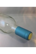 Metallic Solid Light Blue PVC Shrink Capsules 30/Bag