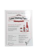 Label Paper - White