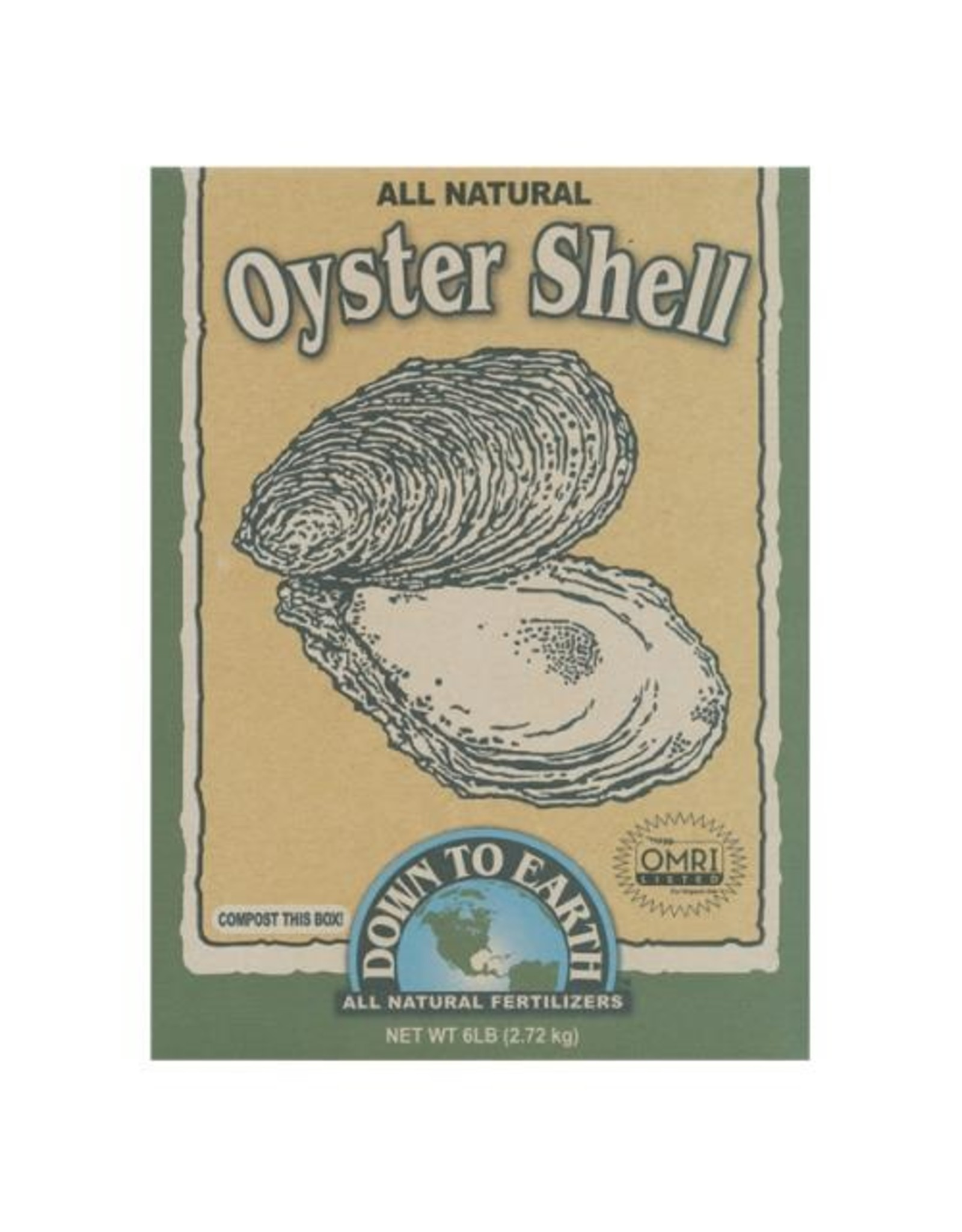 Down to Earth Oyster Shell 6lb