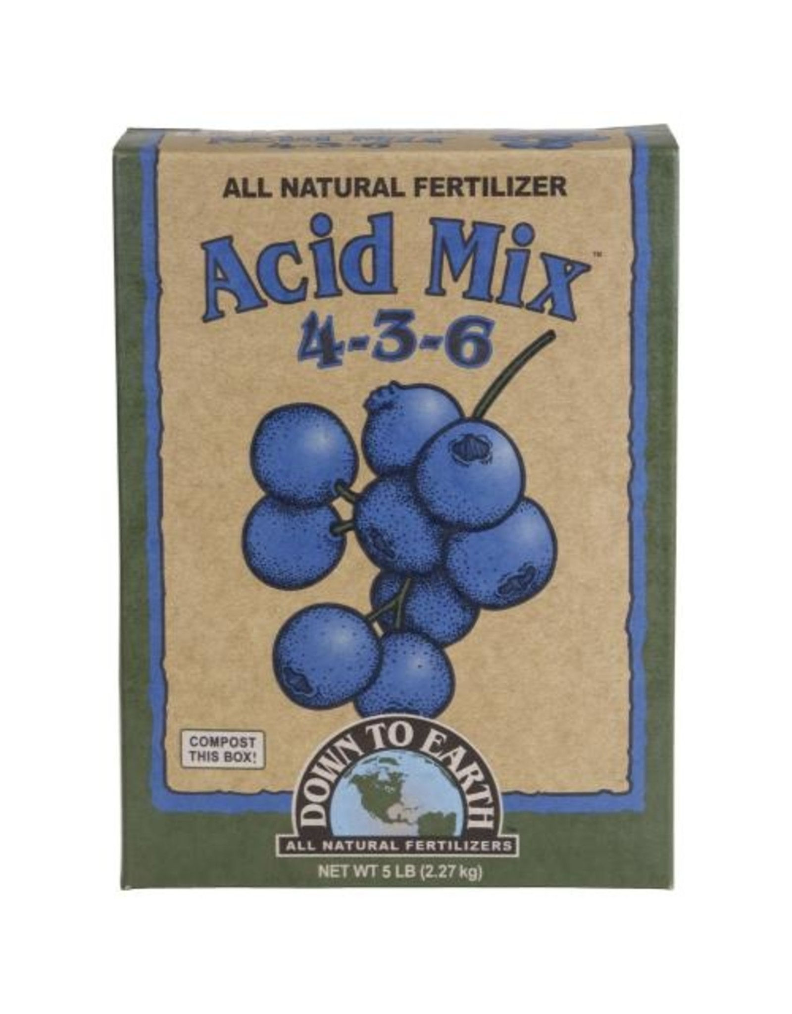 Down To Earth Down To Earth Acid Mix (4-3-6) - 5 lb