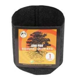 Gro Pro Gro Pro Essential Round Fabric Pot - Black 1 Gallon