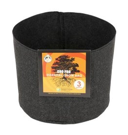 Gro Pro Gro Pro Essential Round Fabric Pot - Black 3 Gallon