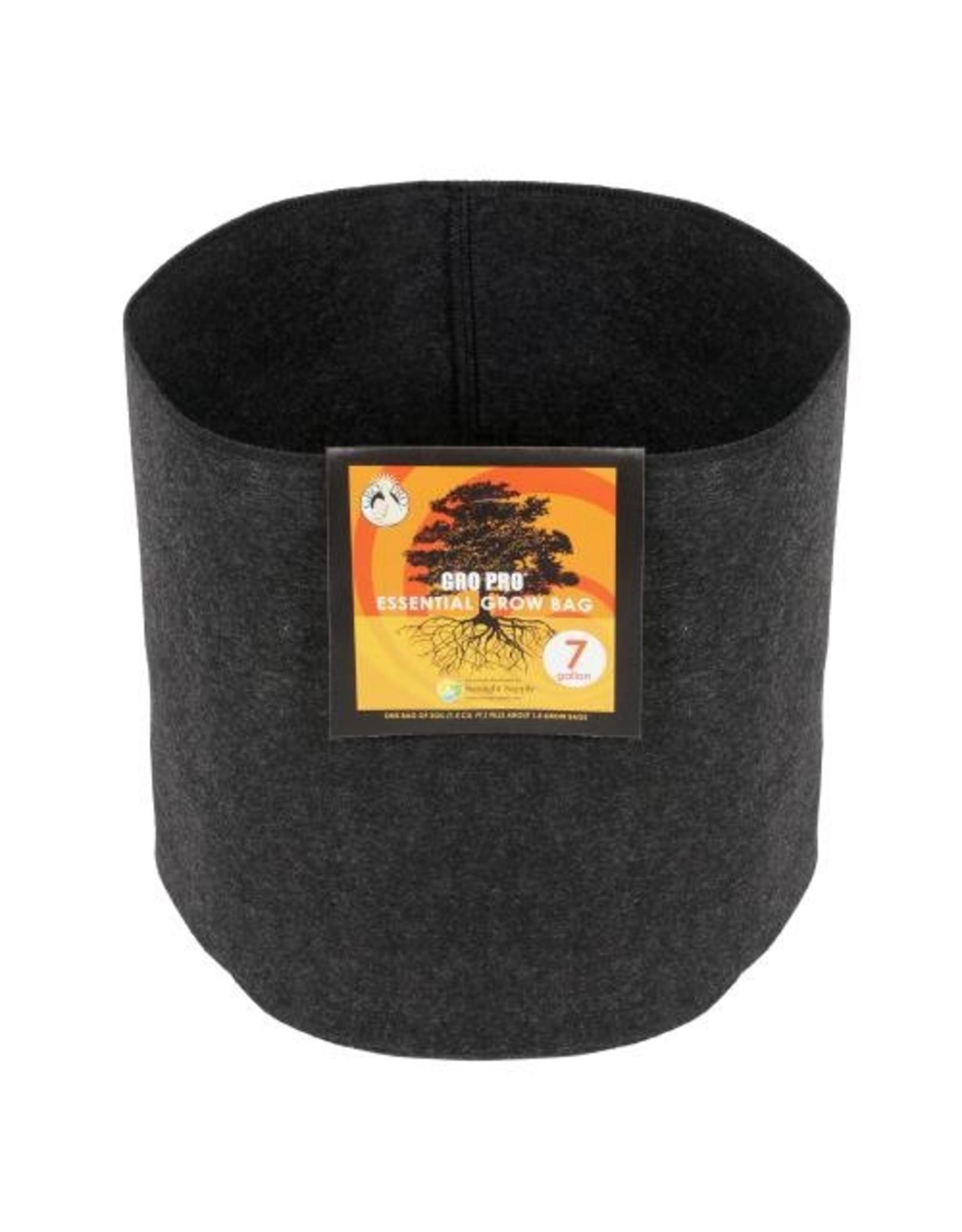 Gro Pro Gro Pro Essential Round Fabric Pot - Black 7 Gallon