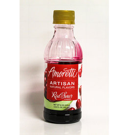 AMORETTI RED SOUR CHERRY ARTISAN FRUIT PUREE 8 OZ