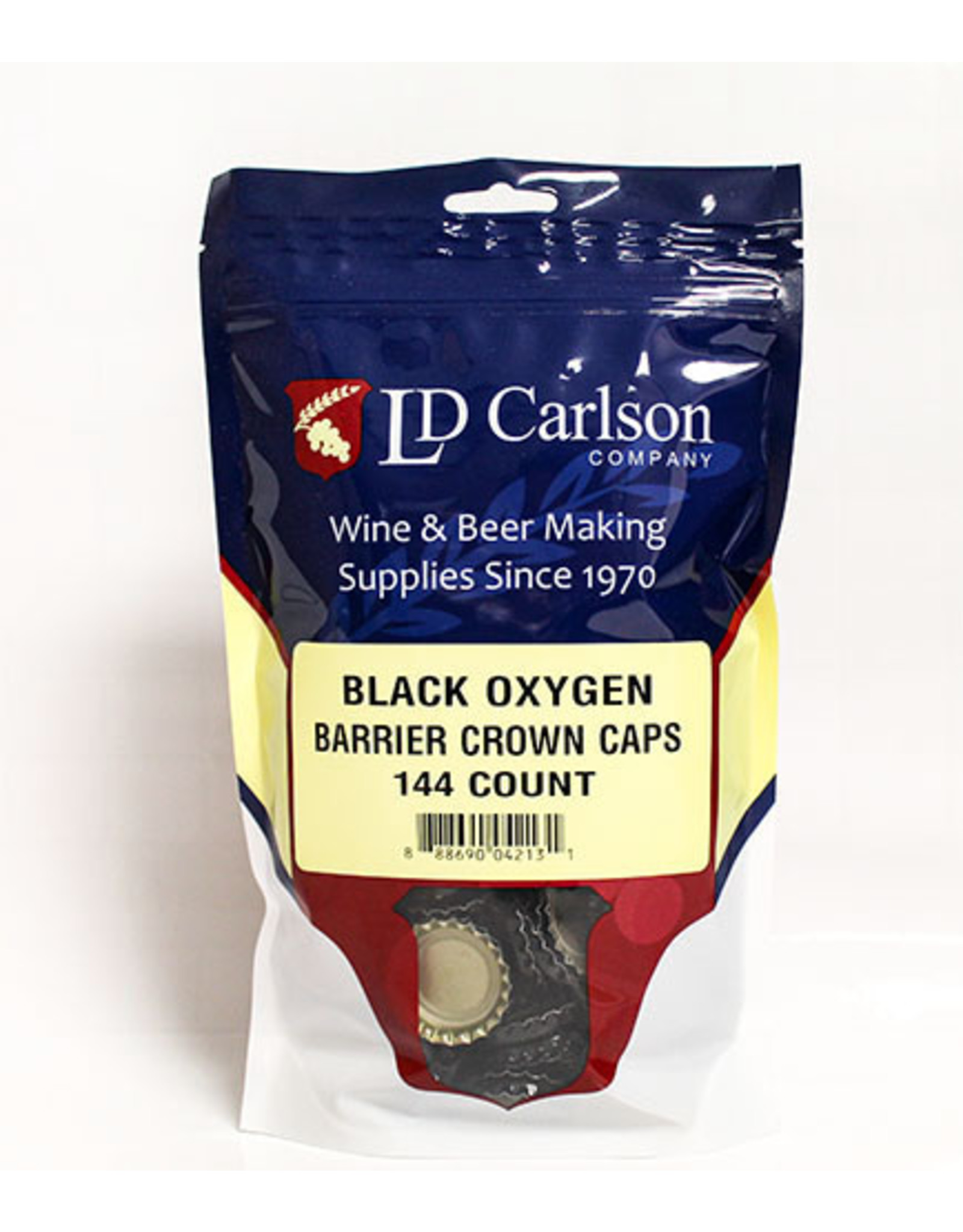 Caps - Beer Black Crown Oxy Barrier (144/Bag)