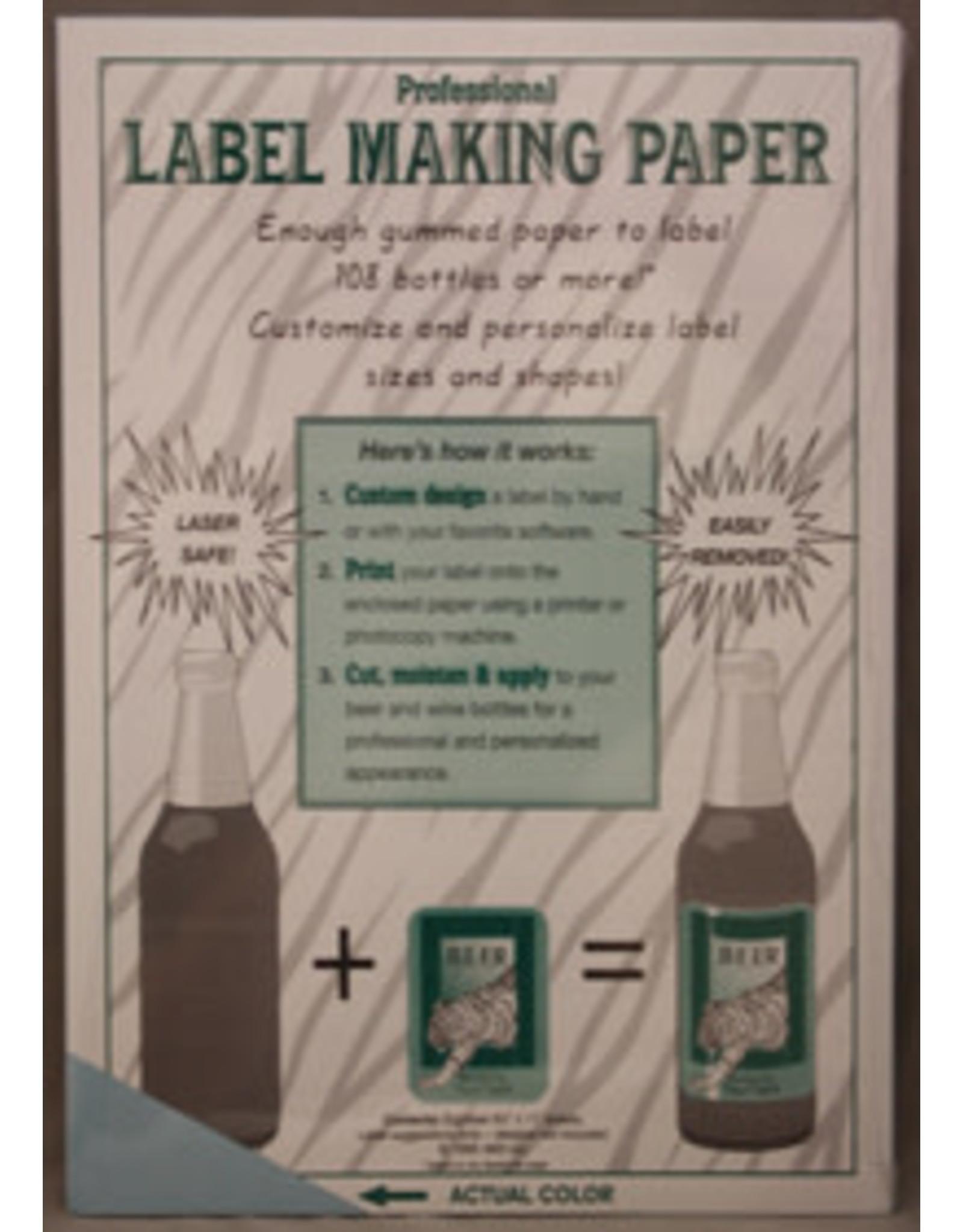 Label Paper - Blue