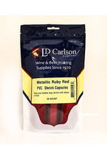 Shrink Capsules Metallic Solid Ruby Red Bag/30