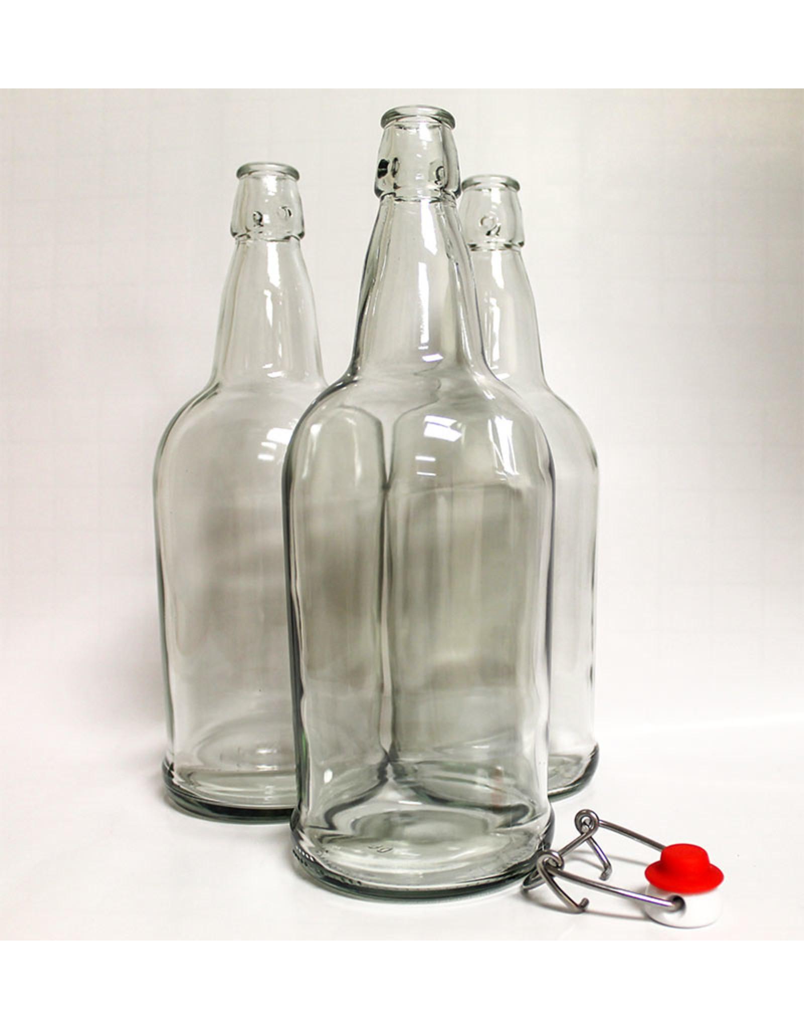 Bottle Clear Flip-Top 1 L (12/cs)