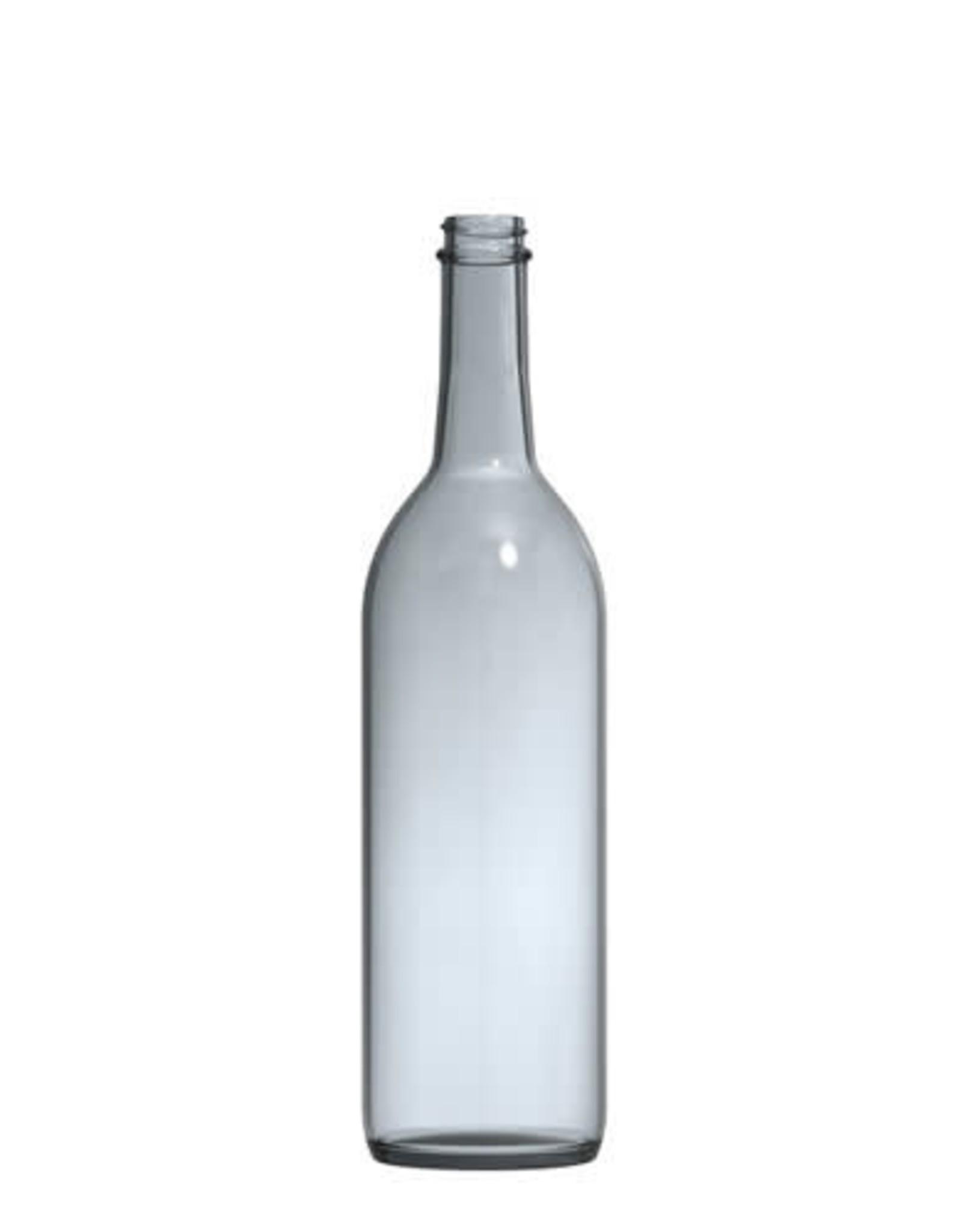Wine Bottle 750mL Screw Top Clear Bordeaux 12/CS