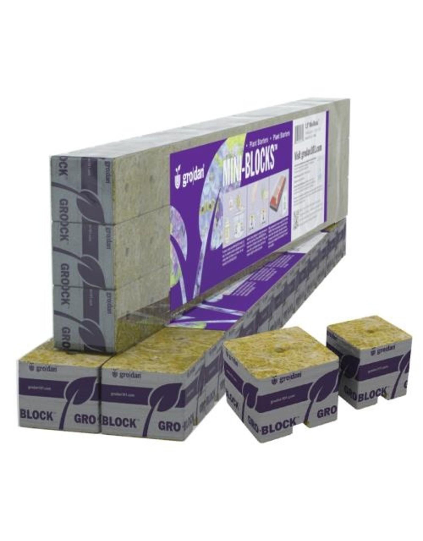 Grodan Grodan Improved Mini Block 1.5Inches wrapped (45/strip - 50 strips/Cs) 2250 per case