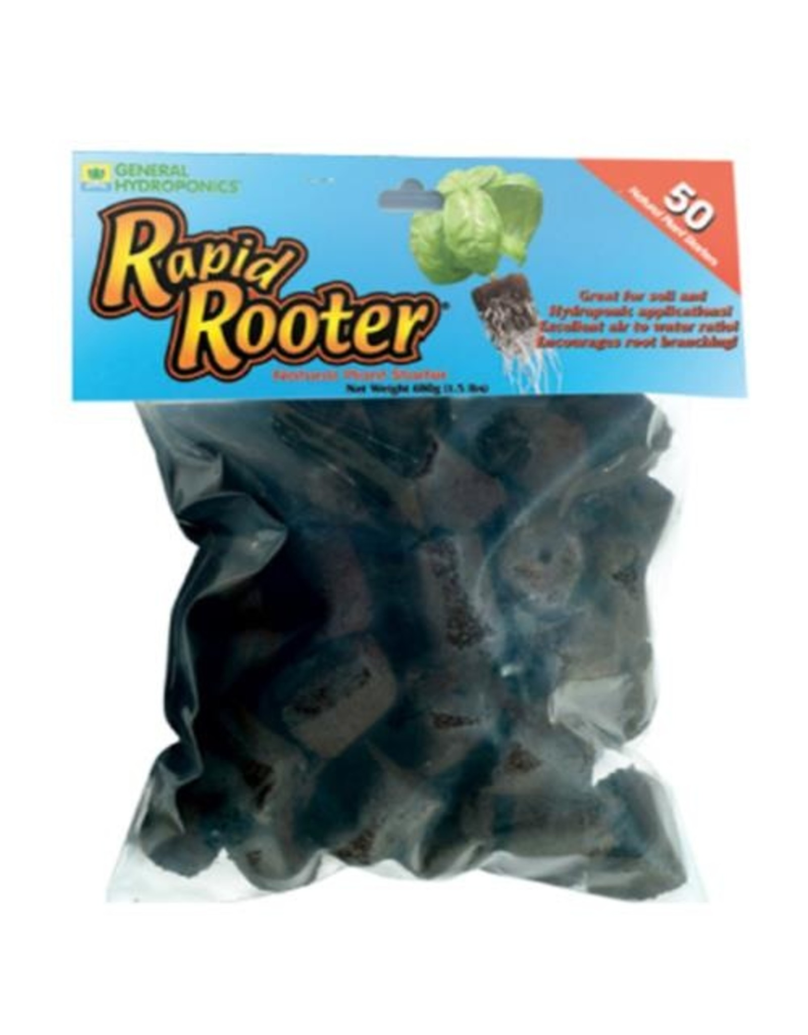 General Hydroponics GH Rapid Rooter Loose Bag/50