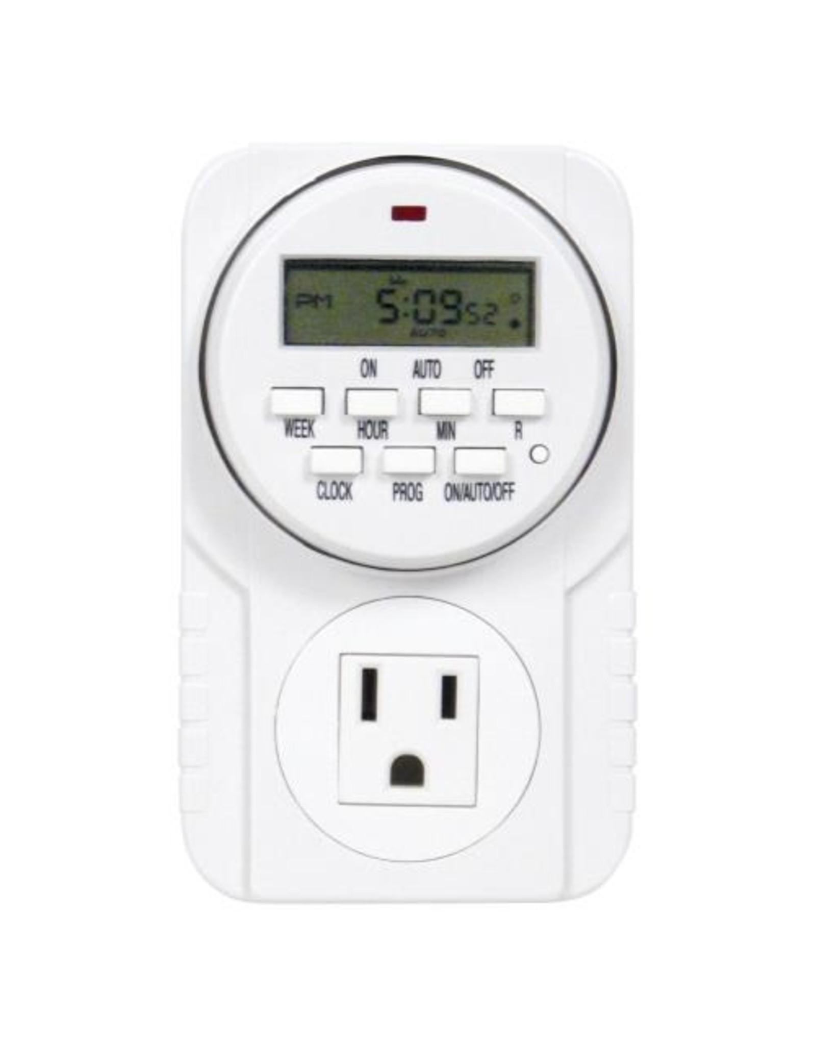 Timer 120V Single Outlet Digital 15 Amp