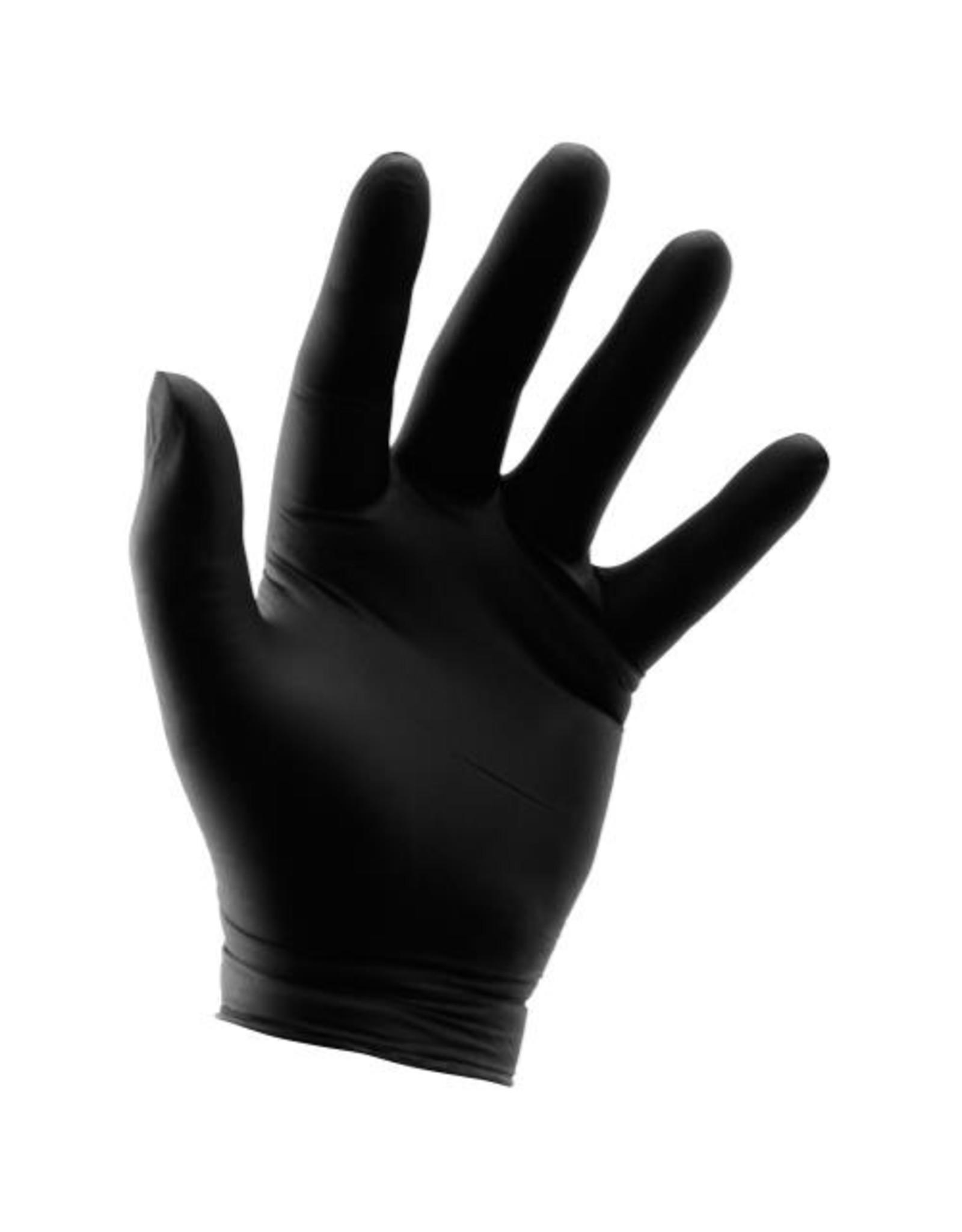 Grower's Edge Black Powder Free Nitrile Gloves 6 mil - Large