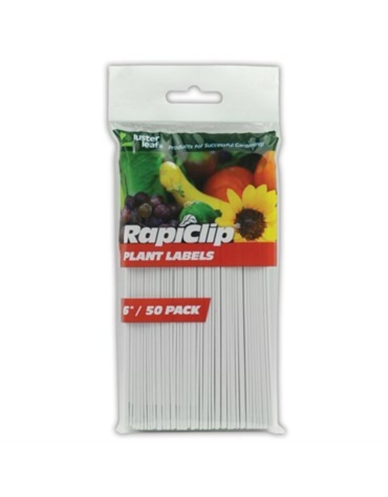 """Rapiclip Plant Labels 6""""  50 pk"""
