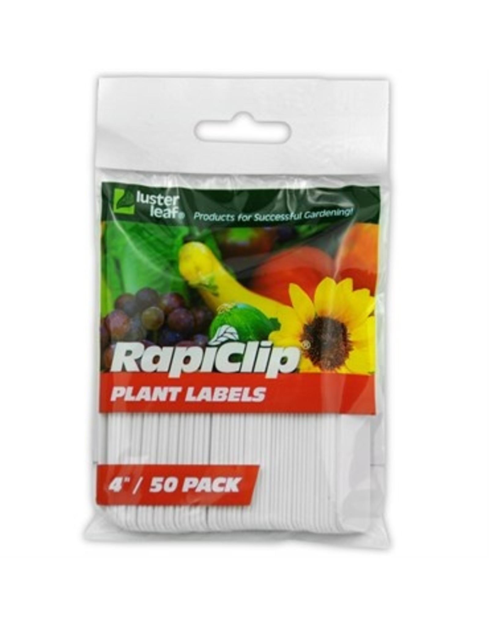 """Rapiclip Plant Labels 4"""" 50 pk"""