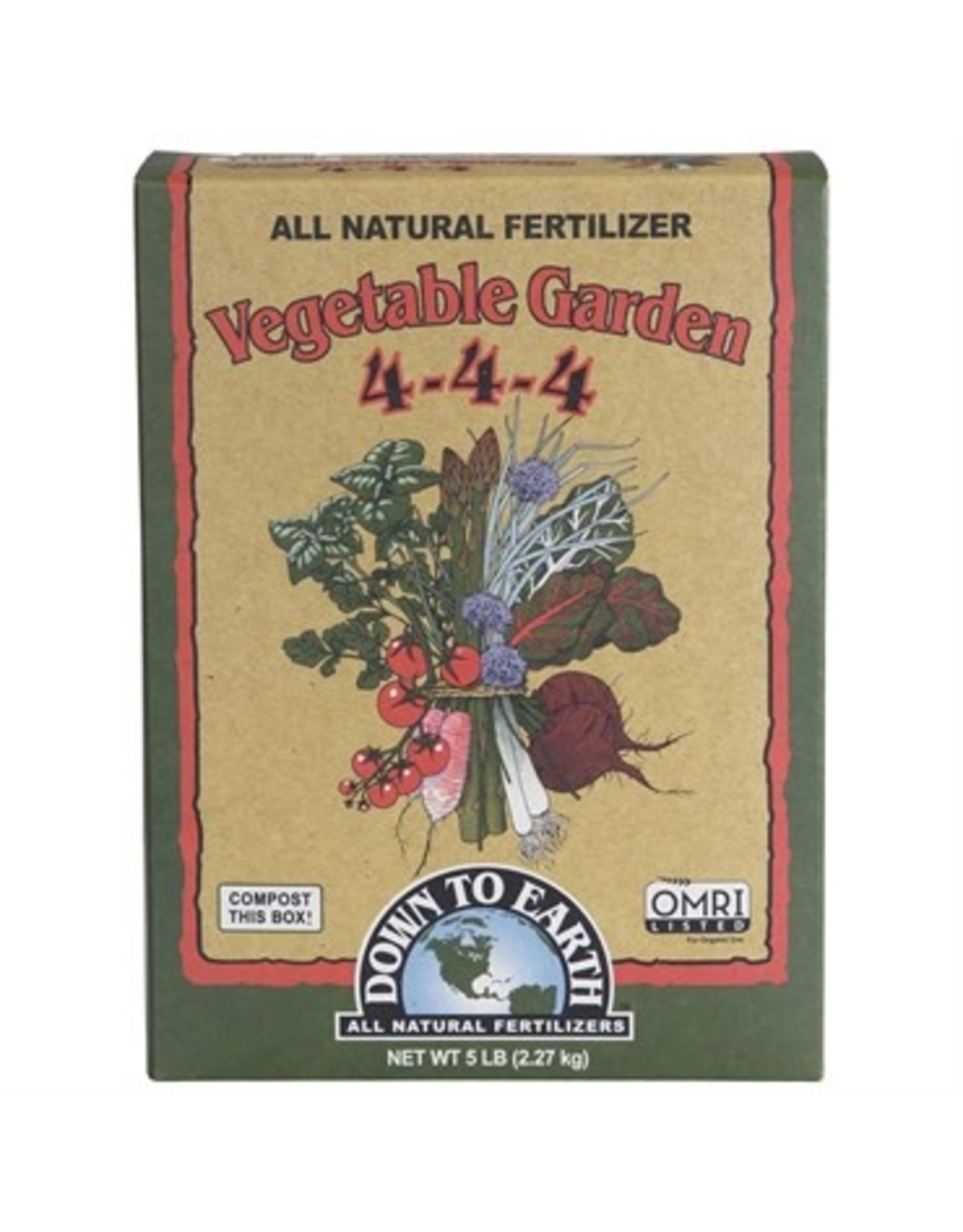 Down To Earth Down To Earth Vegetable Garden (4-4-4) - 5 lb