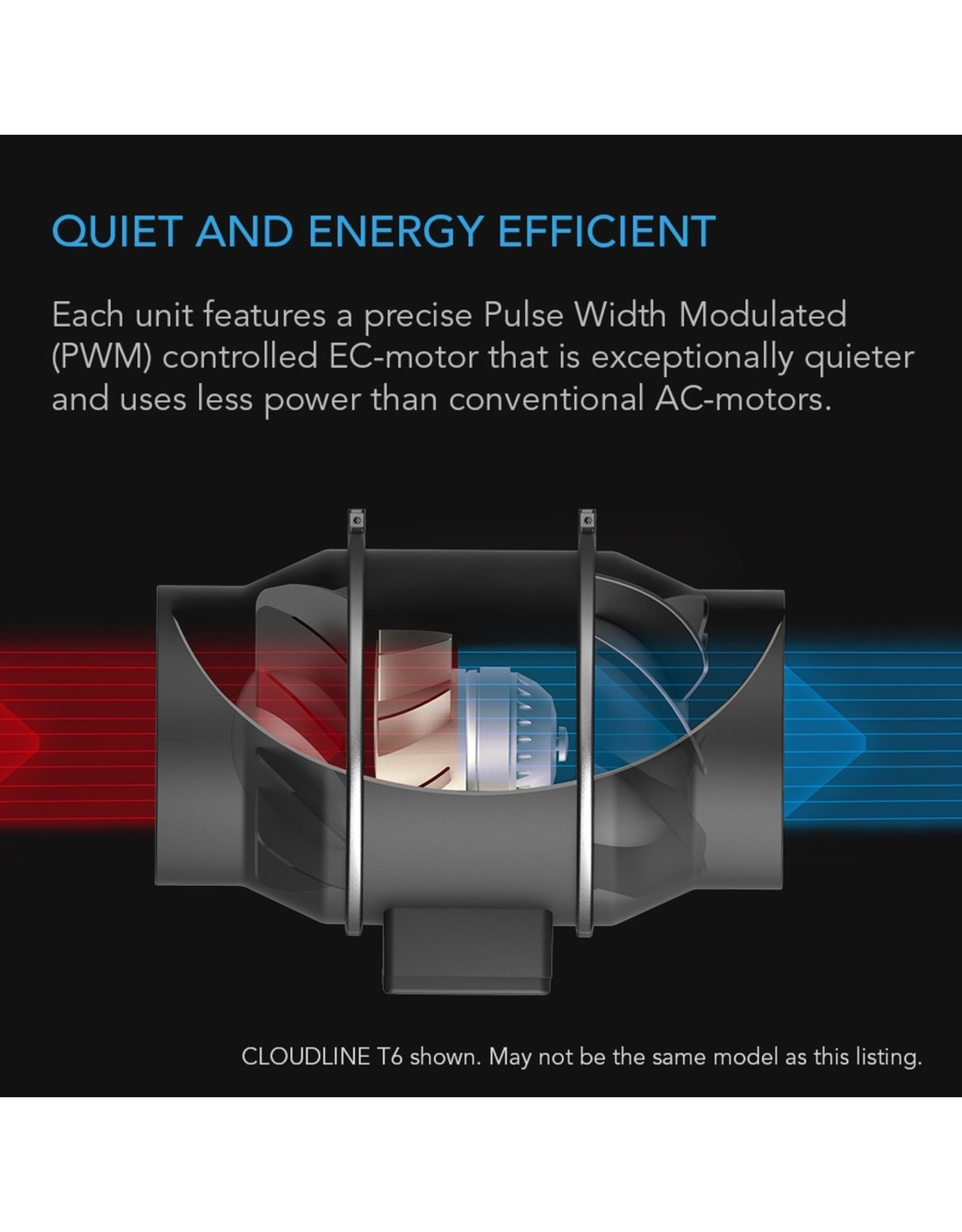 """AC Infinity CLOUDLINE T8 - 8"""" Duct Fan /w LCD Thermal Control"""