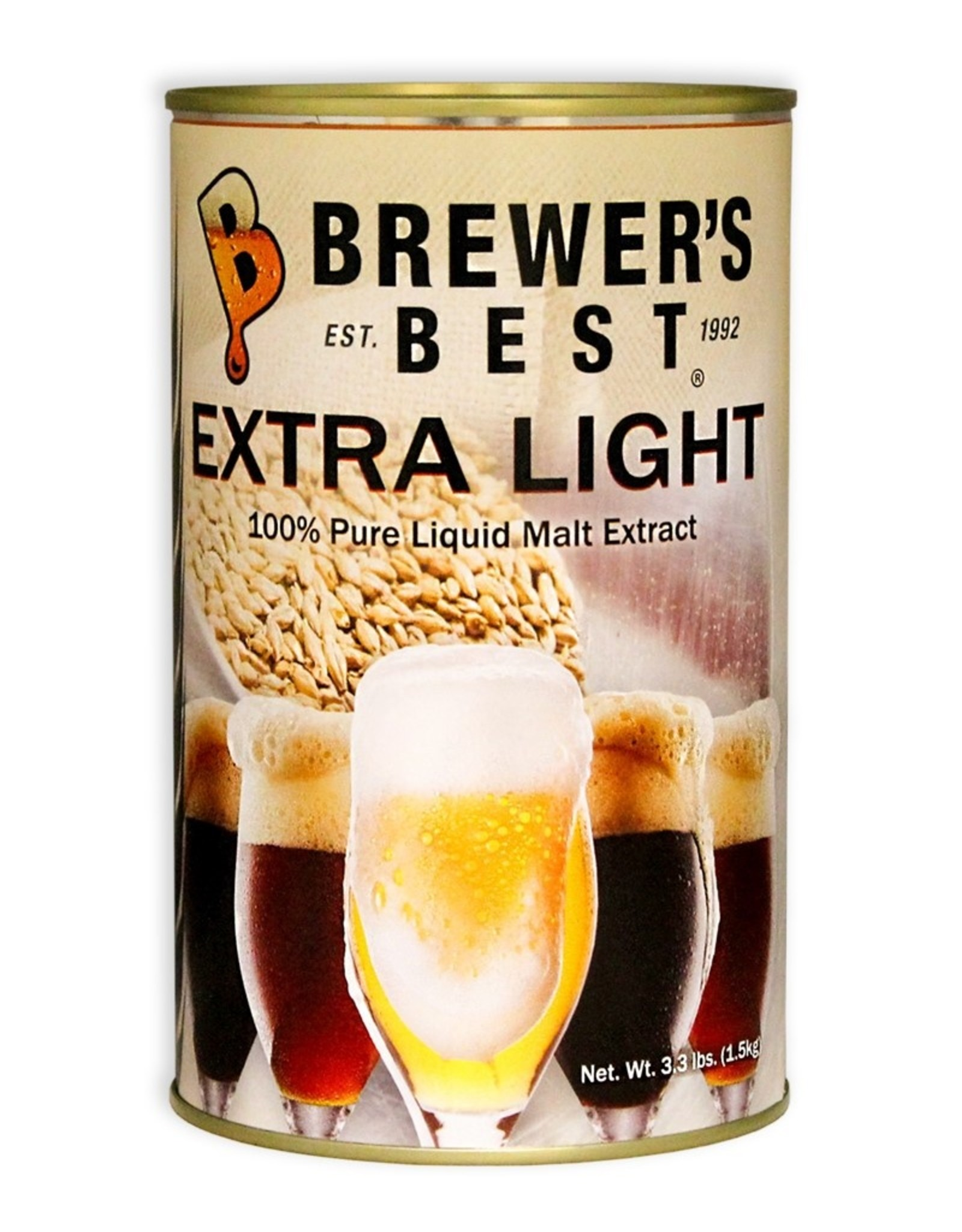 Brewer's Best Extra Light Liquid Malt Extract 3.3 lb Tin