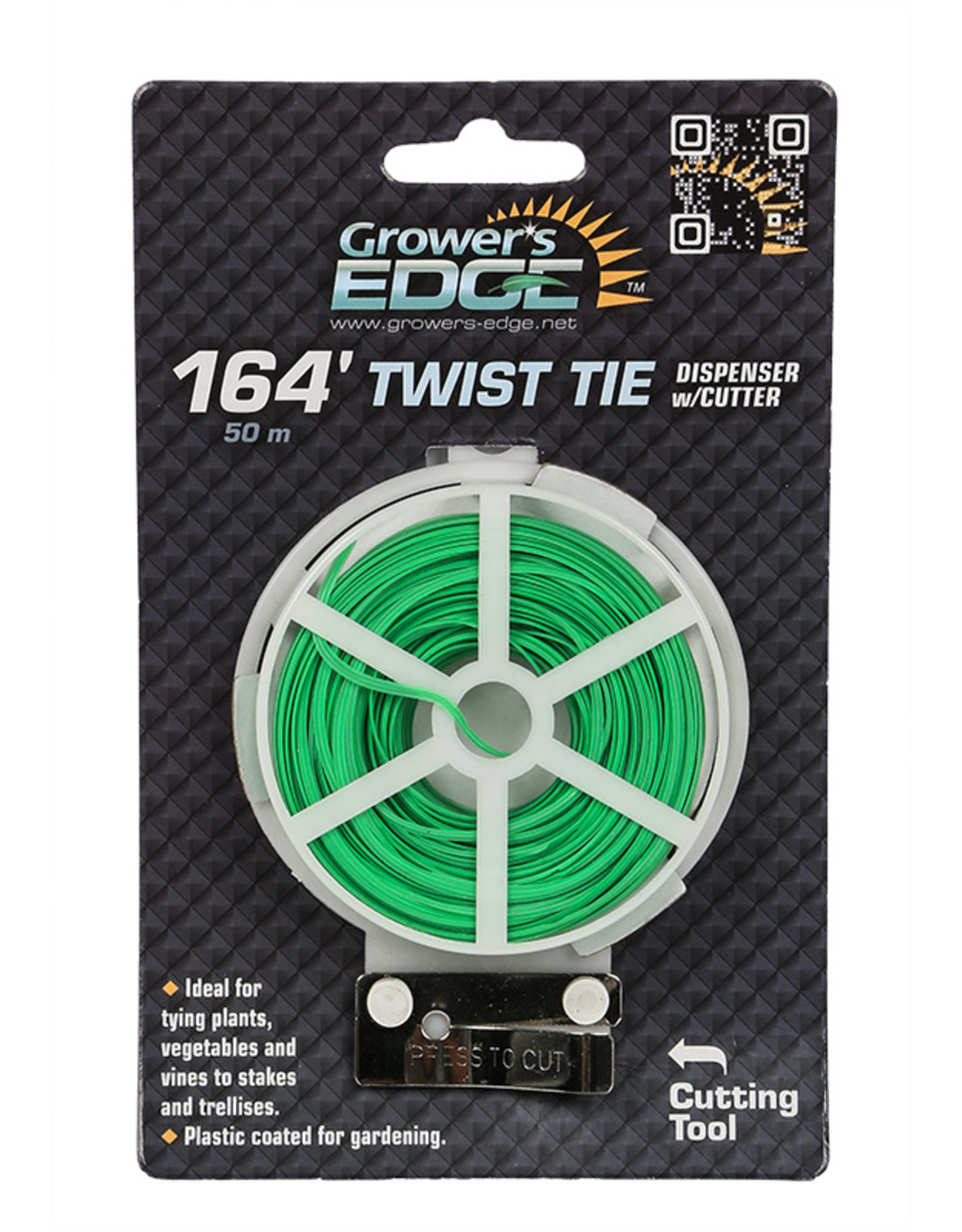 Growers Edge Grower's Edge Green Twist Tie Dispenser w/ Cutter - 164 ft