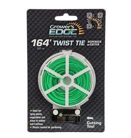 Growers Edge Grower's Edge Green Twist Tie Dispenser w/ Cutter - 164 ft