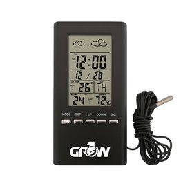 GROW1 GROW1 Wireless Indoor & Outdoor Temperature And Humidity Hygrometer w/ Probe