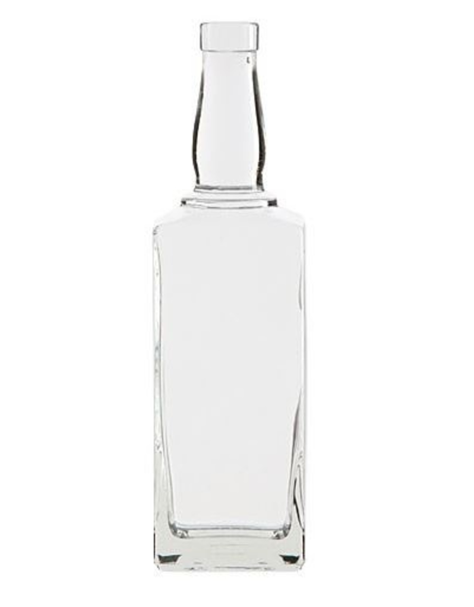 CLEAR 750ML WHISKEY BOTTLE 6/CASE (19mm CK Finish)
