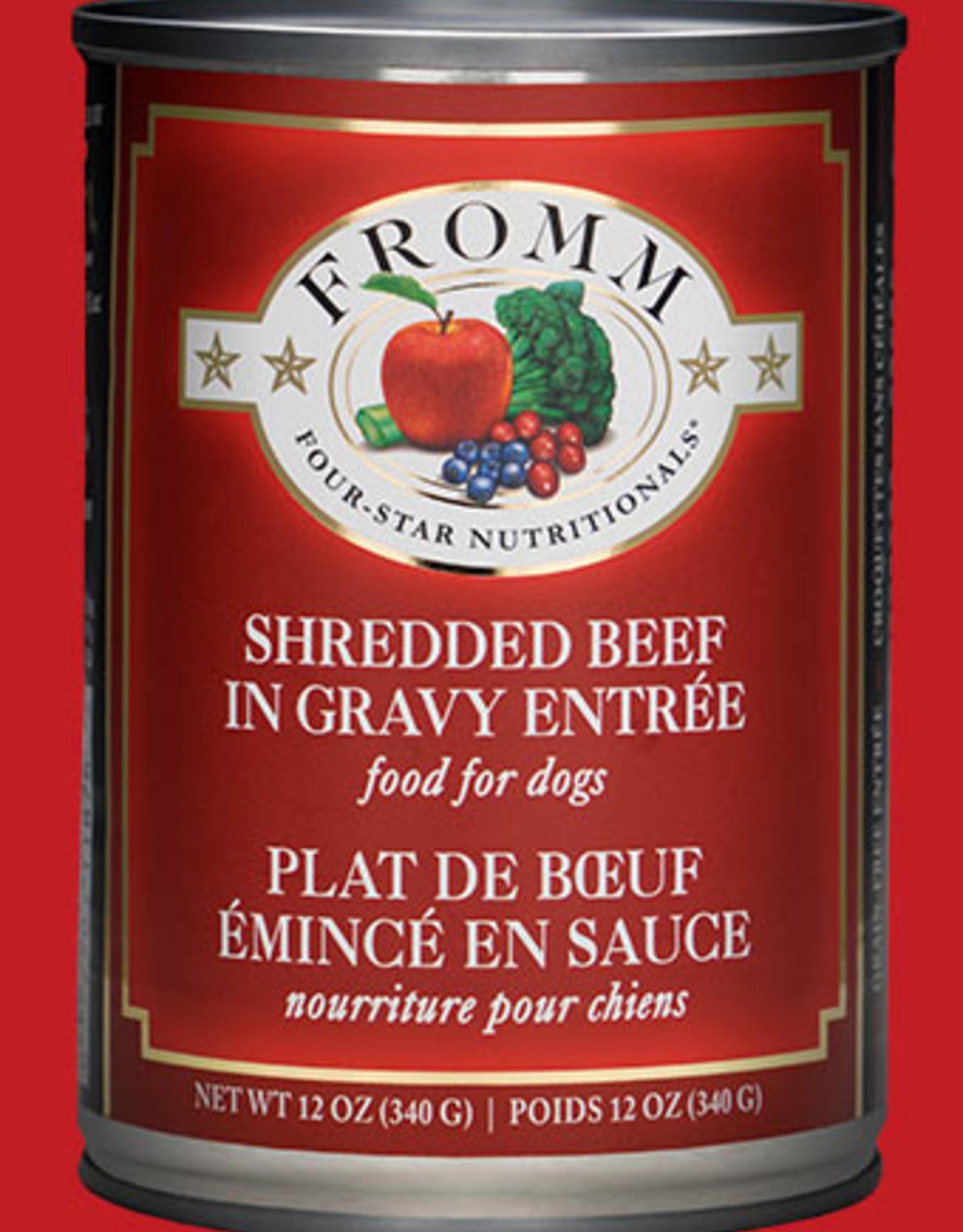 Fromm Shredded Beef in Gravy Entree 12oz