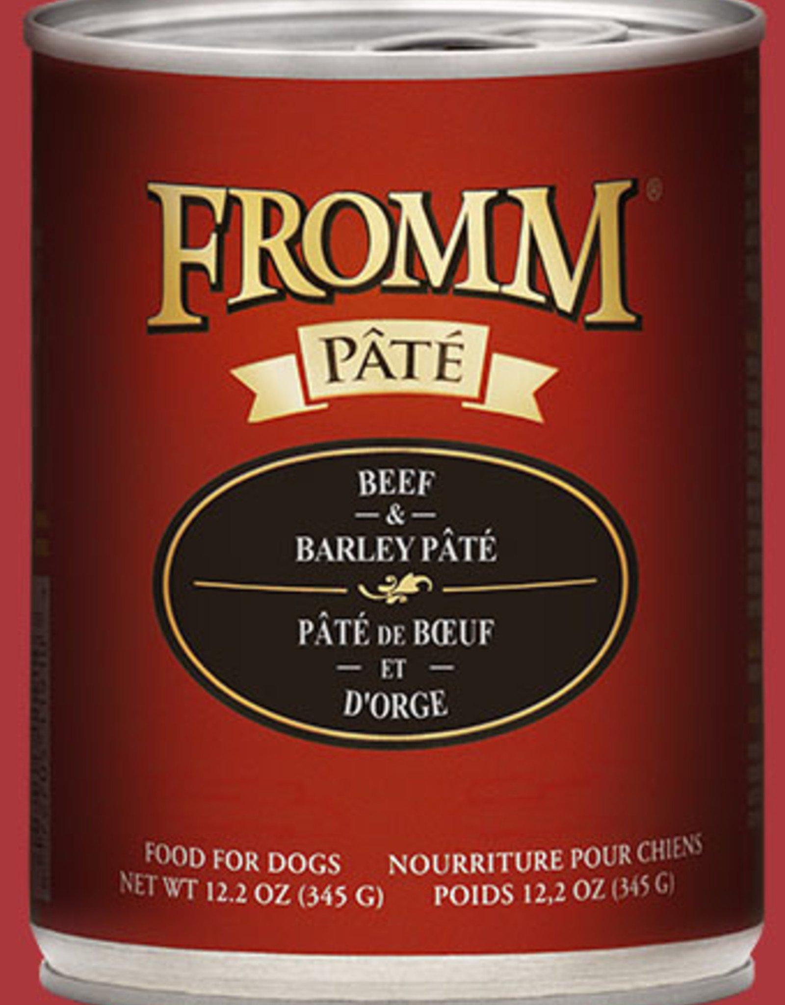 Fromm Beef & Barley Pate 12oz