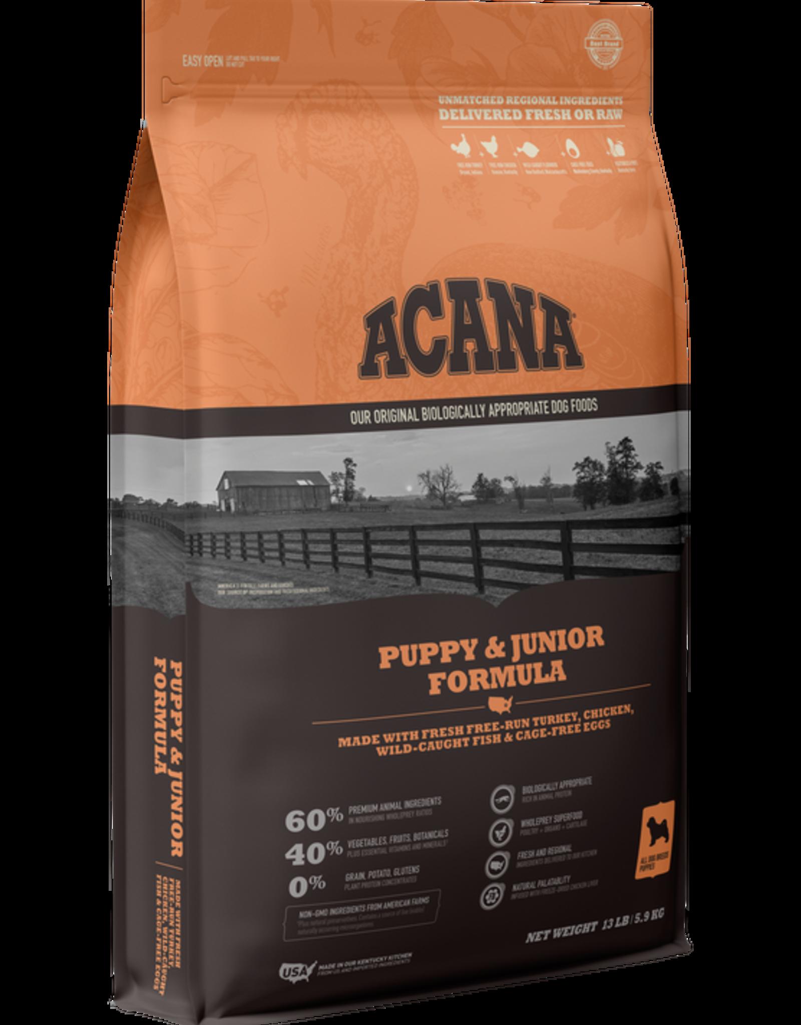 Acana Heritage Puppy & Junior  4.5lb