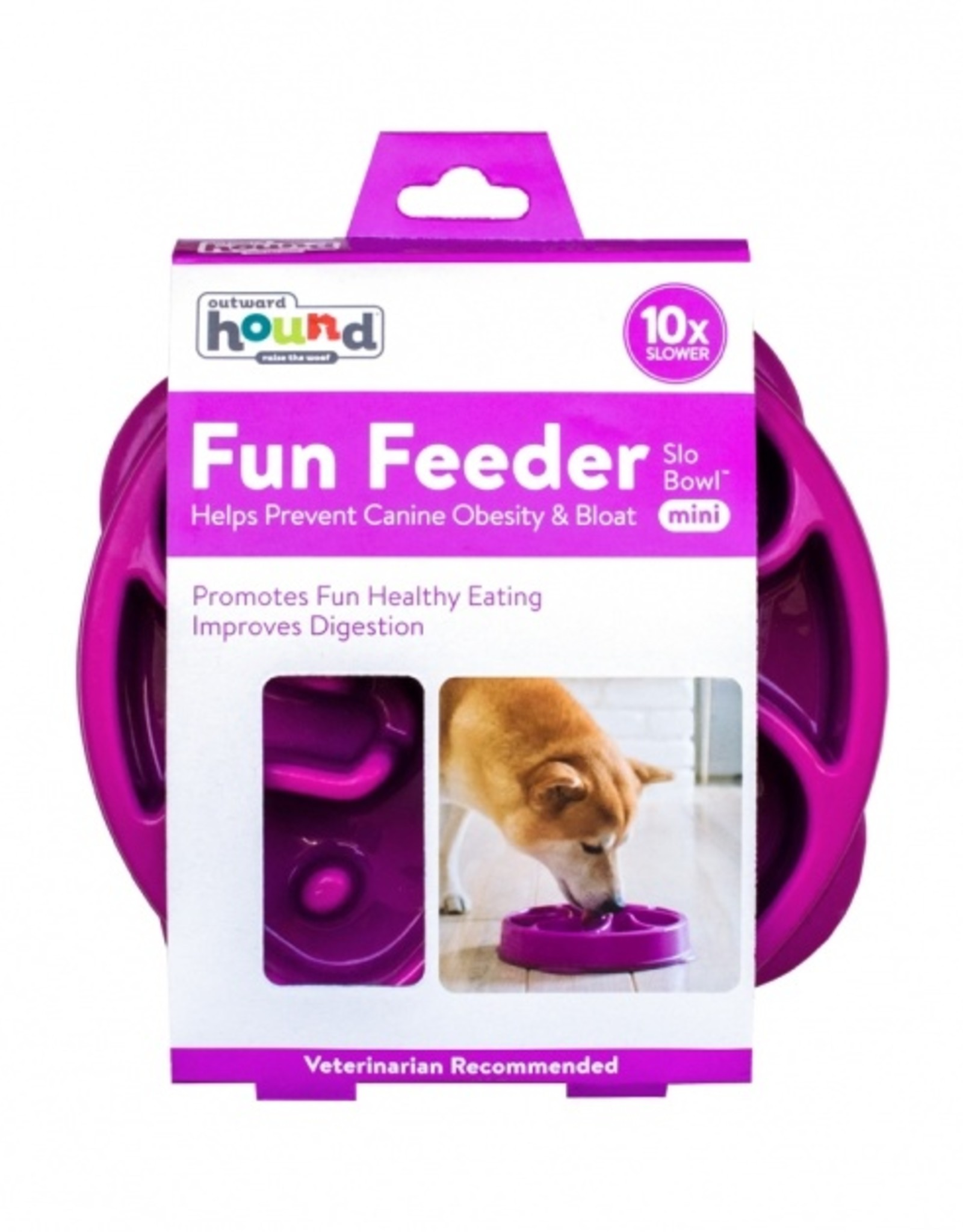 Outward Hound Fun Feeder - Purple Small