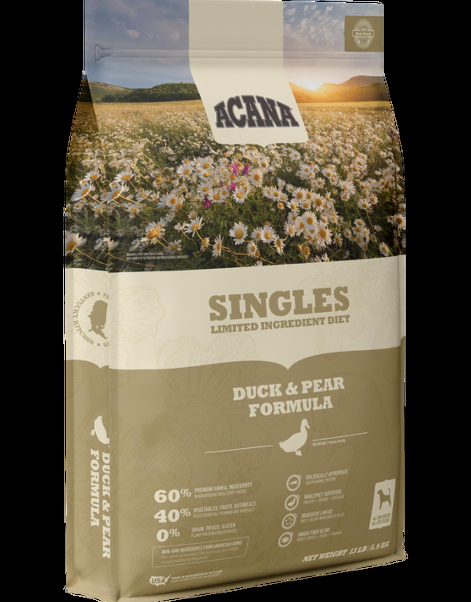Acana Singles Duck & Pear 13lb