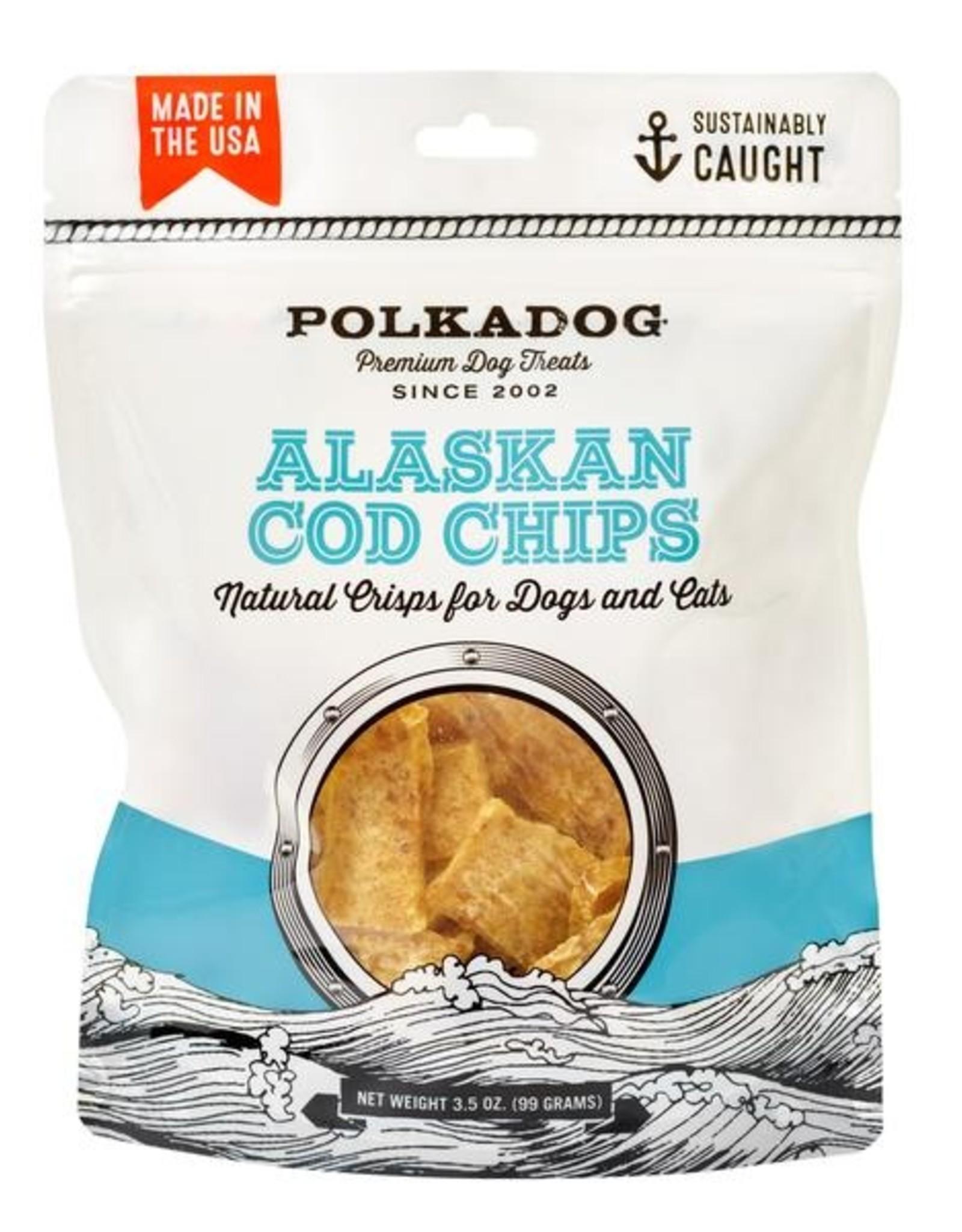 Polka Dog Bakery Alaskan Cod Chips 3.5oz
