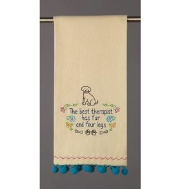 Peking Handicraft The Best Therapist Has Four legs Towel