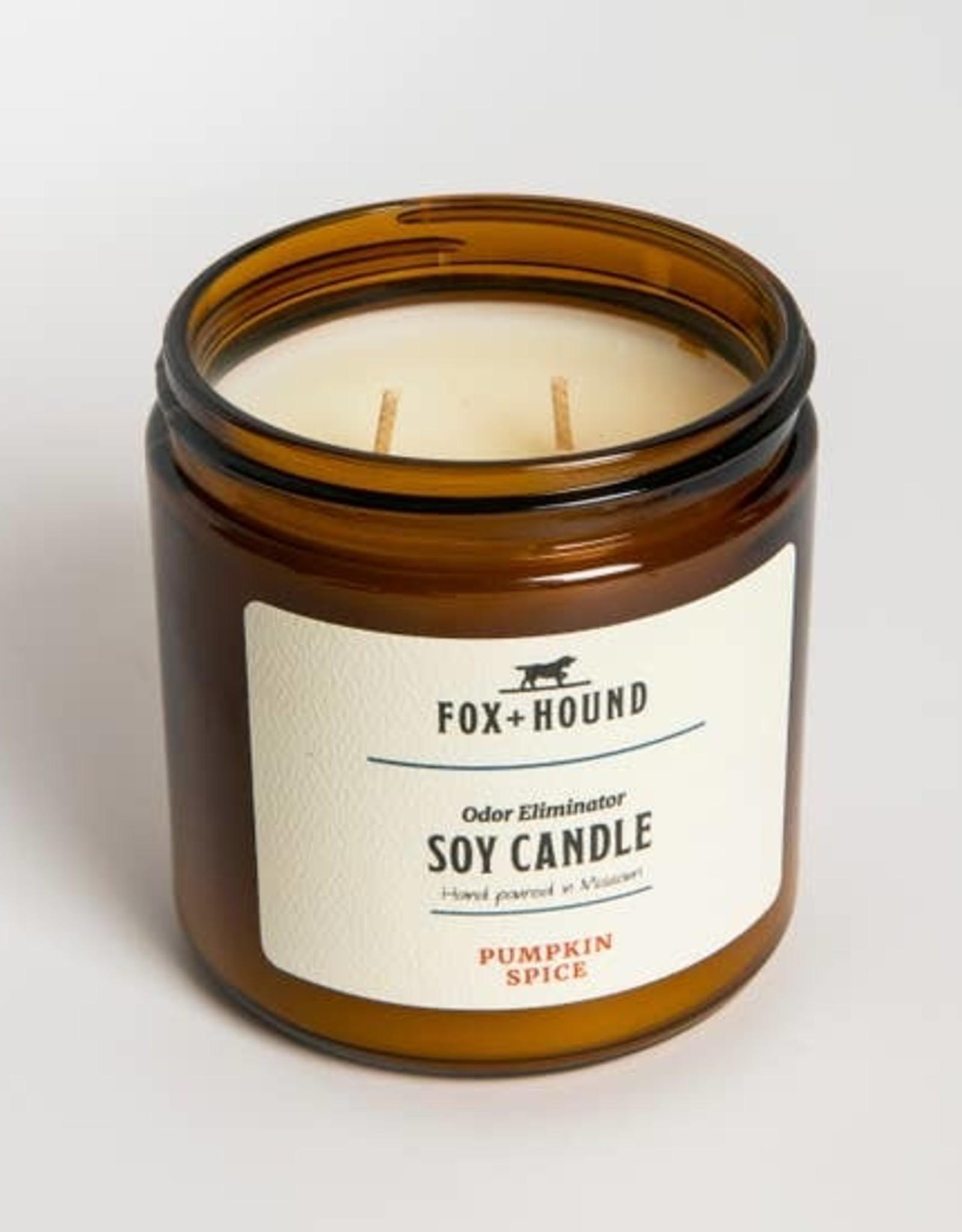 Fox & Hound Odor Eliminator Soy Candle - Pumpkin Spice