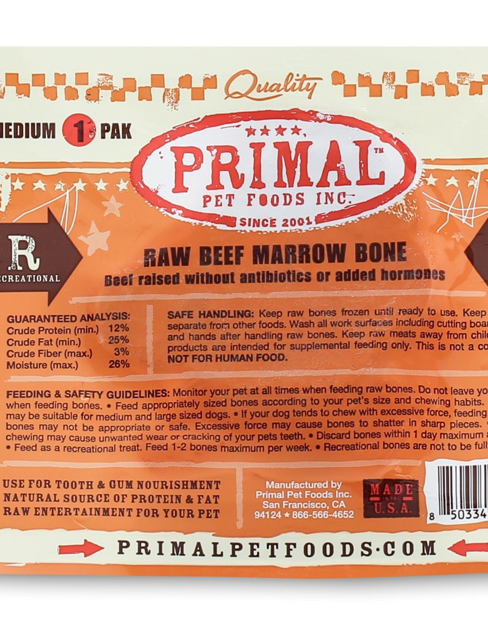 Primal Beef Marrow Medium