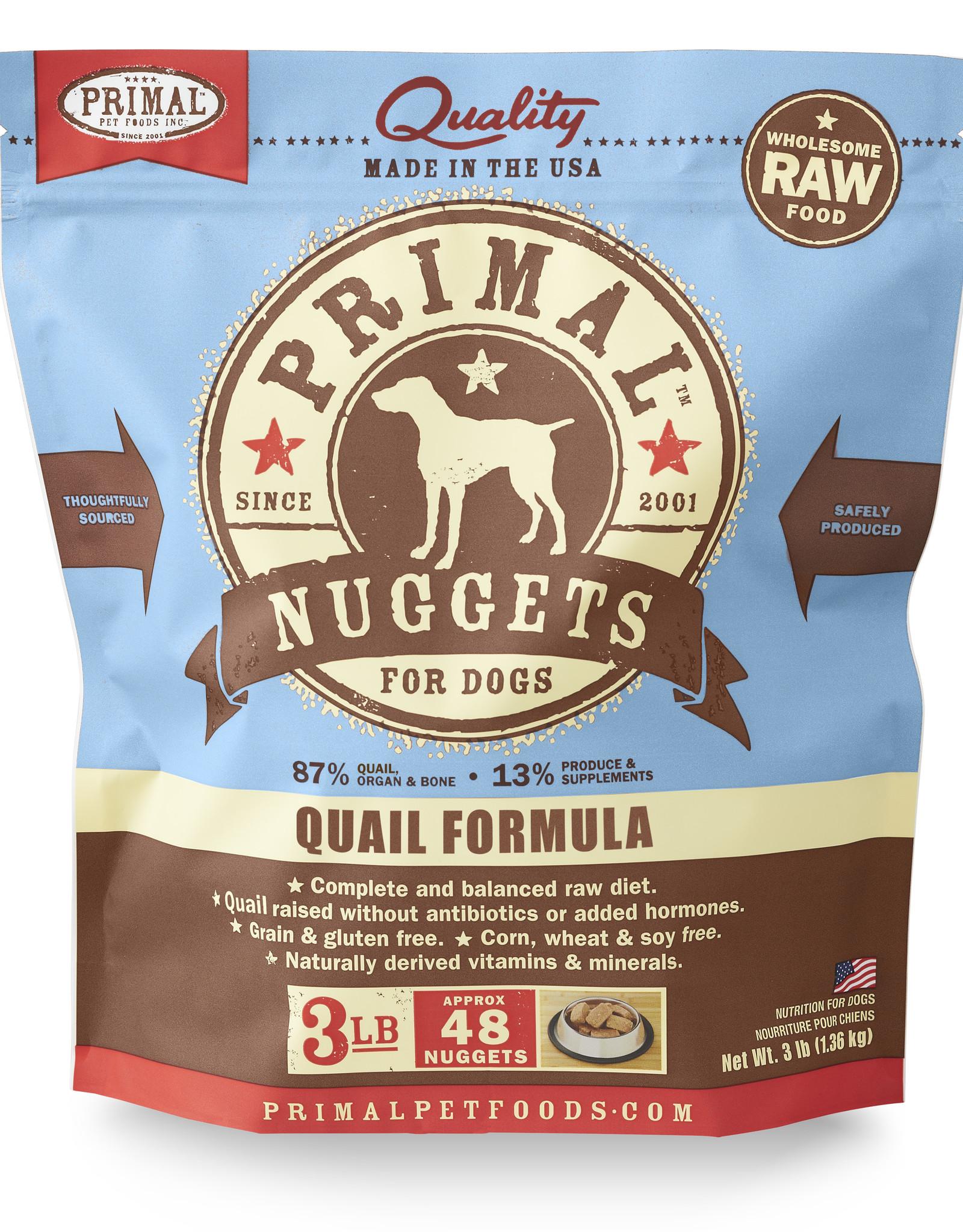 Primal Canine Frozen Quail 3lb