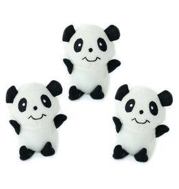 Zippy Paws Panda Miniz 3 Pack
