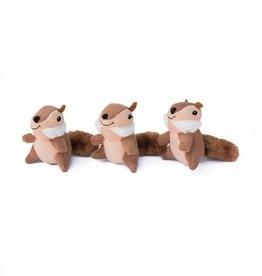 Zippy Paws Chipmunk Miniz 3 Pack