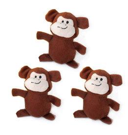 Zippy Paws Monkey Miniz 3 Pack