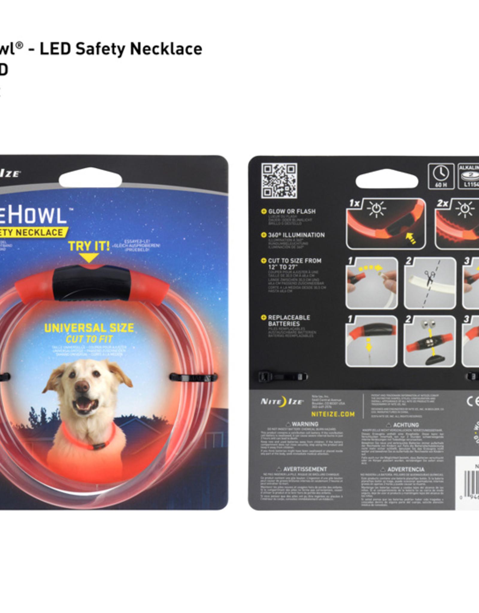 Nite-Ize NiteHowl LED Collar - Red
