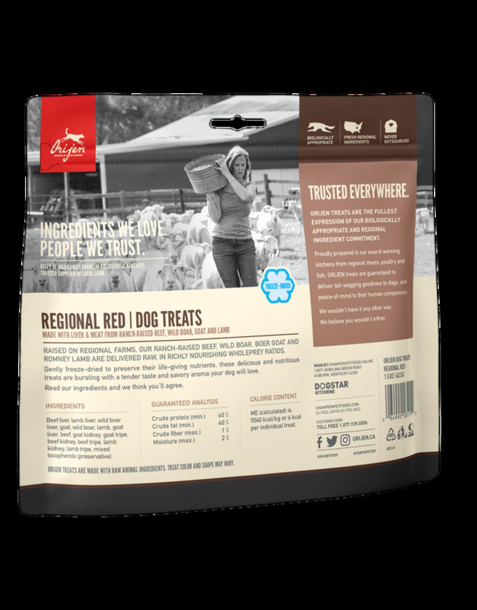 Orijen Freeze-Dried Regional Red Treat 3.5oz