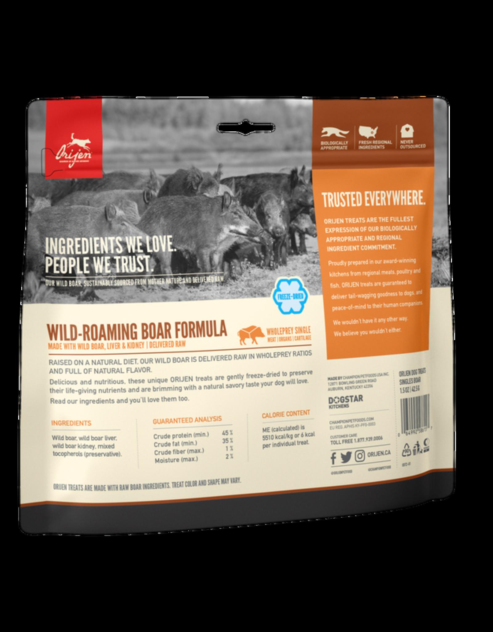 Orijen Freeze-Dried Wild Boar Treat 3.5oz