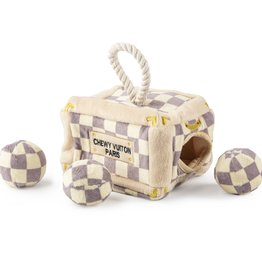 Haute Diggity Dog Chewy Vuitton Checkered Activity Trunk