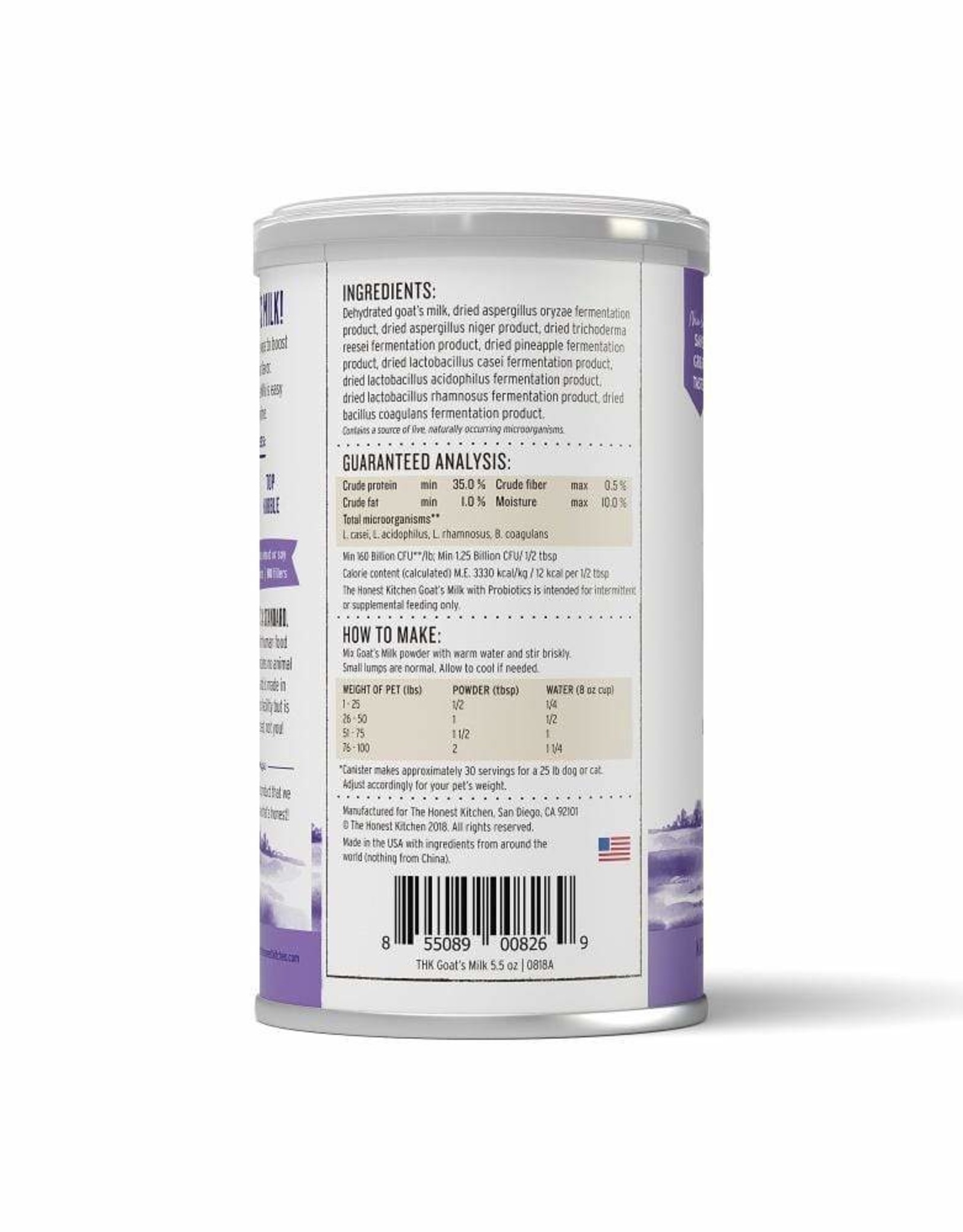 The Honest Kitchen HK - Goat Milk 5.2oz