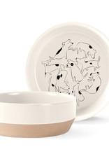 Fringe Studio Bowl - Nosey Dog Spot Medium