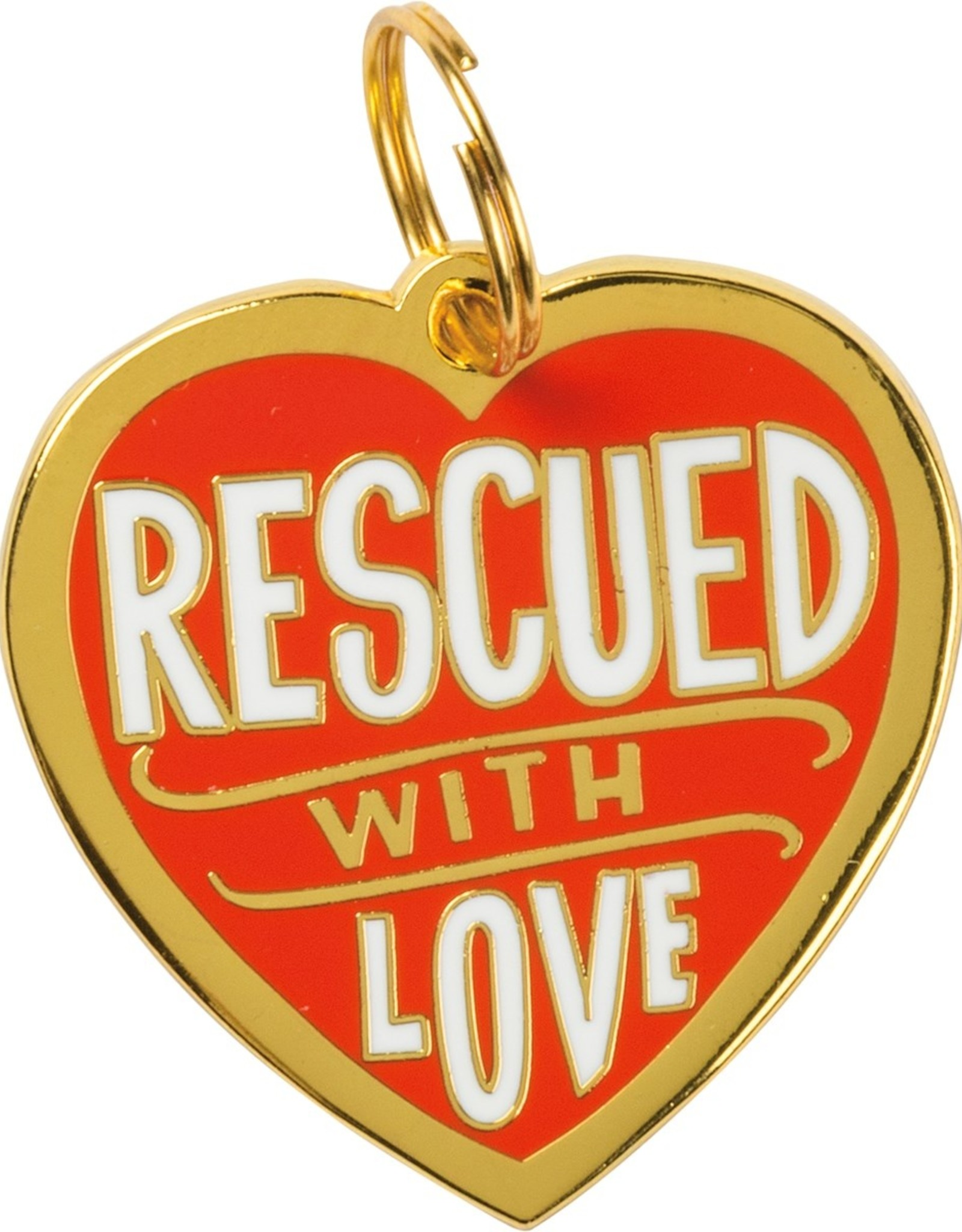 Primitives By Kathy Collar Charm Rescued Love