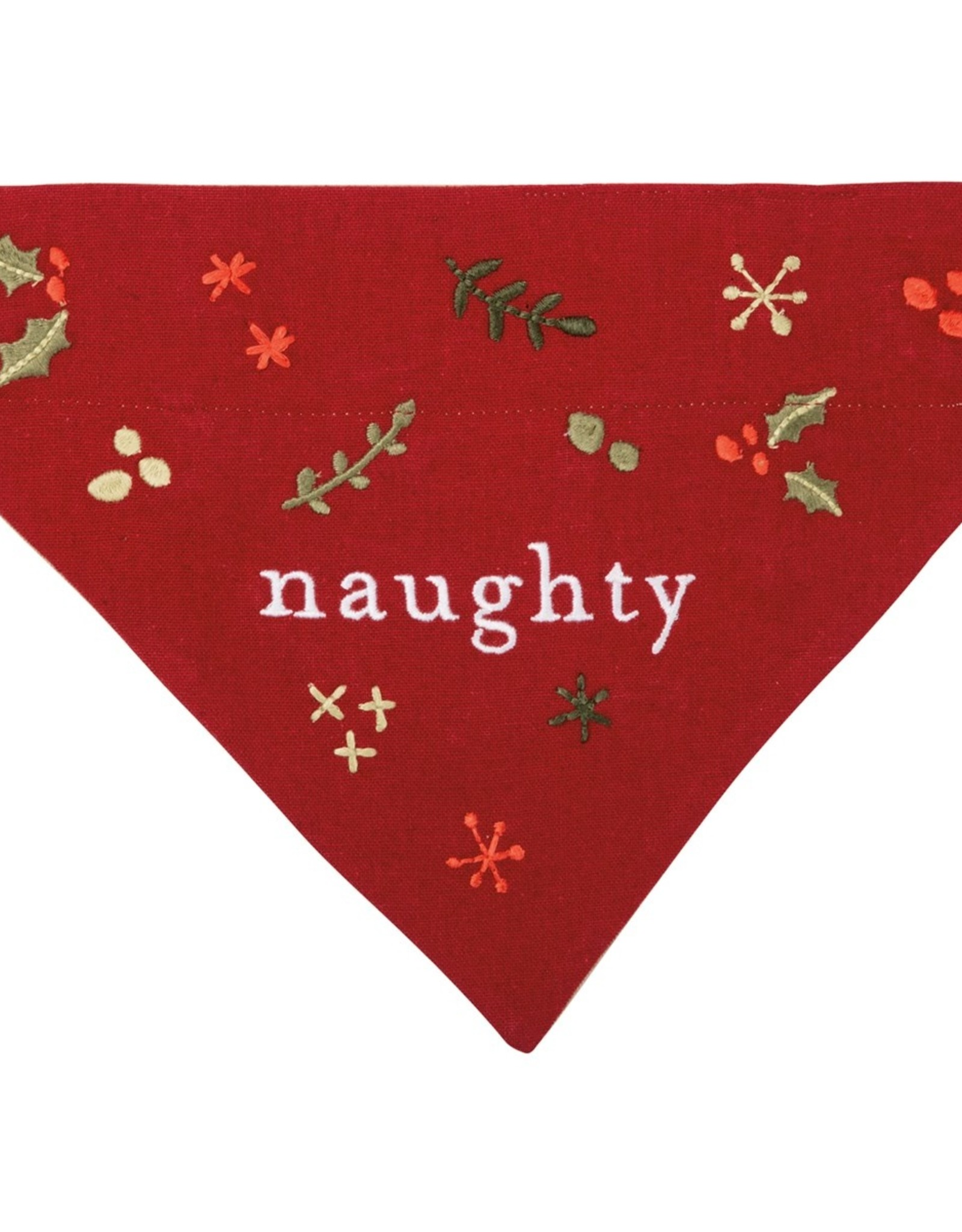 Primitives By Kathy Bandana - Naughty/Nice Embroidered (Slide)
