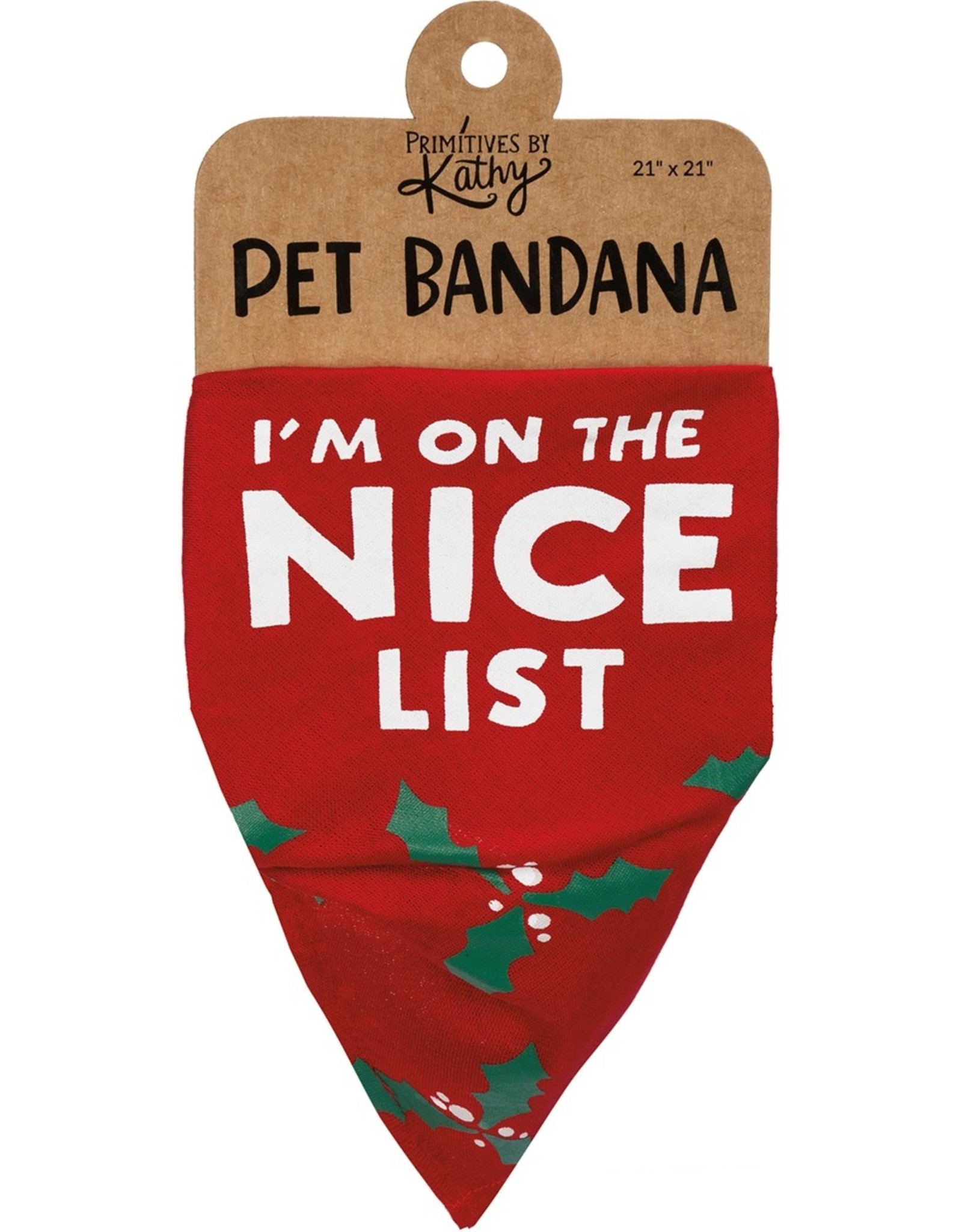 Primitives By Kathy Bandana - Nice/Naughty List (Tied)